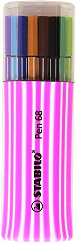 (Stabilo 6815-01 Fibre-Tip Pen 68 Single Pack, Plastic-Box with 15 Pens)