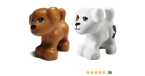 LEGO® Animal Dog Chocolate Lab lot x2 Brown Minifigure pet w//bone