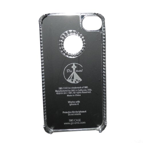 iPhone 4 / Cas 4S: Inlay Diamand peau Hard Cover Protector Case pour Apple iPhone 4 / 4S - blanc