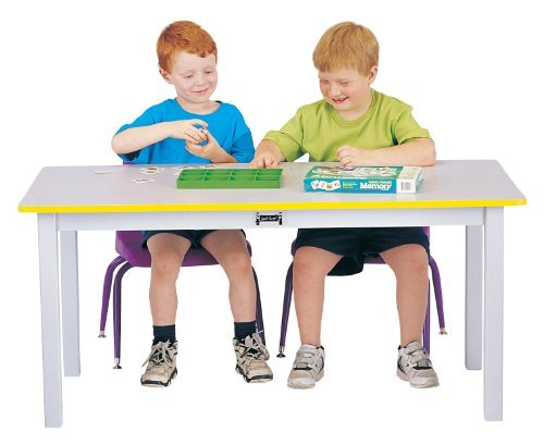 Rainbow Accents Rectangle Activity Table - Rainbow Accents 56422JC114 Multi-Purpose Large Rectangle Table, 22