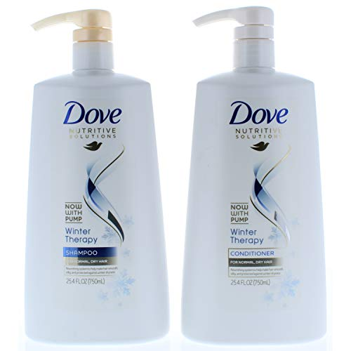 (Dove Nutritive Solutions Winter Therapy, Shampoo and Conditioner Duo Set, 25.4 Fl. Oz Pump Bottles)
