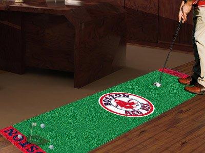 """Fan Mats Boston Red Sox Putting Green Runner, 18"""" x 72"""""""
