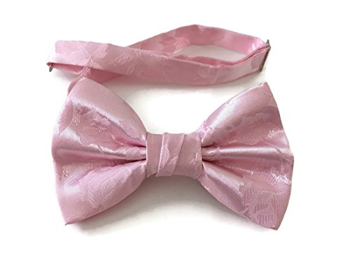 Lavender In Butterfly Wrap (Men's Bow Tie Pink Rose Satin Jacquard Pre-tied (Mens, Pink) (Mens))