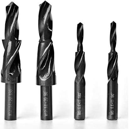 Counterbore Twist Step Drill Dual Cutting Bit HSS For Metal 90 180 Degree M3 M4 M5 M6 M8 M10 M12 Black Oxide Coating M8 90 Degree