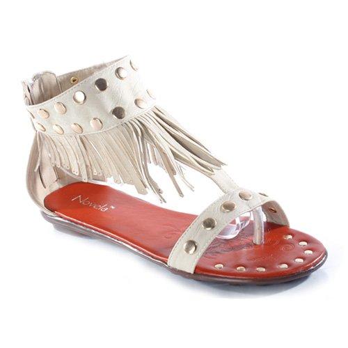 4b9771161eb Novela KIRK Women's Fringe Flat Sandals