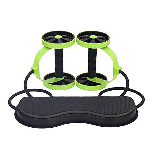 (BleuMoo Abdominal Power Roll Trainer Waist Slimming Exerciser Core Double Wheel Fitness)