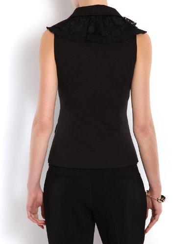 Uni Noir Veste Morgan Tailleur manche Sans de Femme qRg74t