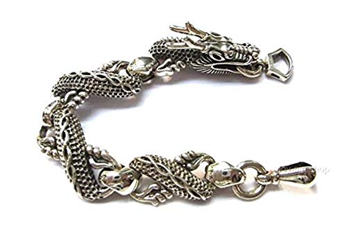 - joy-nin 925 Sterling Silver Dragon Bracelet - Handmade Vintage Jewelry (7)