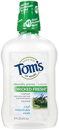 Tom's of Maine Long Lasting Wicked Fresh Mouthwash-Cool Mountain Mint-16, - Shopping Maine