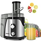 ELEHOT Juicer, Juice Extractor, 700 Watt Wide Mouth Stainless Steel Dual Speed Centrifugal Juicer for Fruits & Vegetable