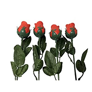 Set of 4 Artificial Light up Roses 77