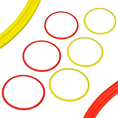 BlueDot Trading Agility & Speed Rings (6 Piece), Yellow/Orange