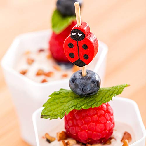 Ladybug Bamboo Skewer 4 inch 1000 count box by Restaurantware (Image #2)