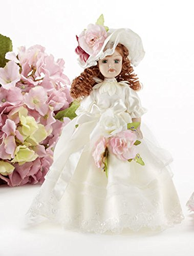 Delton Products 10 inches Porcelain Cream Dress Victorian Doll Home Decor
