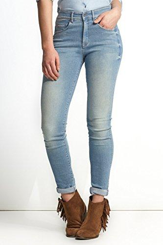 SALSA Pantalones Carrie Push In de color con pierna súper pitillo Azul