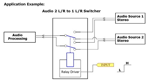 electronics salon dpdt signal relay module 5vdc ry5w k relay has rh amazon com Schematic Circuit Diagram Series Circuit Diagram
