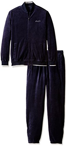 Sean John Men's Big-Tall Limited Addition Velour Set, Navy, 3X-Large/Tall (Tall Velour)