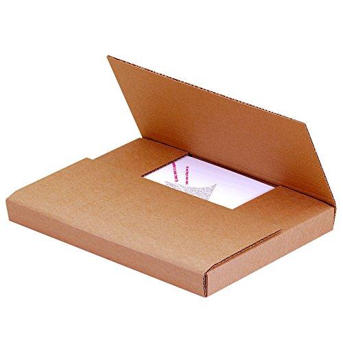Aviditi M1181K Easy-Fold Mailers, 11-1/8' x 8-5/8' x 1', Kraft (Pack of 50)