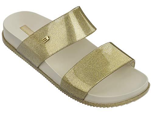 Slide Cosmic Beige Gold Melissa Women's Glitz Sandal pEHOHq