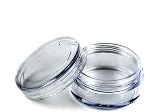 Eforcase 25/50/100 Pcs Clear Empty Plastic Cosmetic Containers 5 Gram Size Pot Jars Eyshadow Container Lot (25 Pcs) by Beauticom