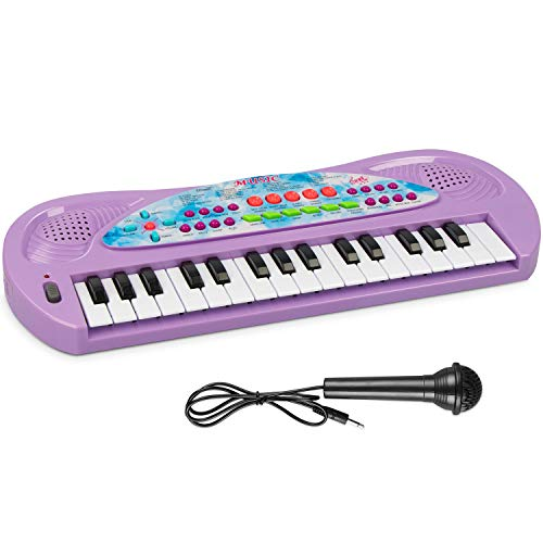 AIMEDYOU Kids Piano Keyboard 32 Key - Portable Electronic Musical Instrument Multi-Function Keyboard Teaching Toys Birthday Christmas Day Gifts for Kids (Purple)