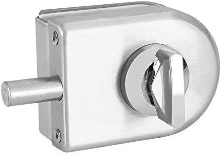 Cerradura Puerta Cristal Cerradura de Seguridad Antirrobo del Vidrio del Acero Inoxidable sin Marco de 10~12mm del Semicírculo Solo Abierto