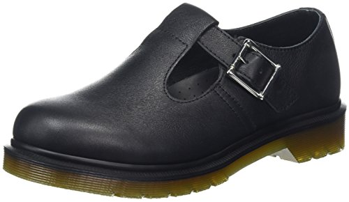 Dr. Martens Women's Polley PW T-Bar Mary Jane Black Virginia 5 M UK