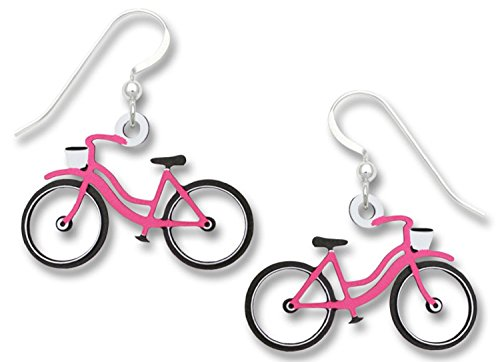 Sienna Sky Vintage Style Pink Bicycle Earrings 1891