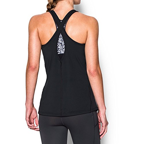 Under Armour Women's CoolSwitch Tank, Black/Metallic Silver, Small