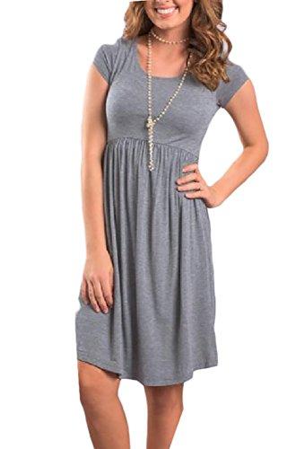 Solid Mini Club Grey Skinny Dress Business Dress Neck Dress Women Coolred Round AwqttX