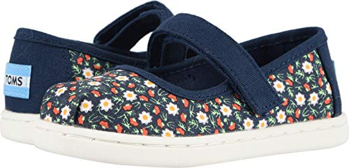 TOMS Kids Baby Girl's Mary Jane (Toddler/Little Kid) Navy Local Floral Print 8 M US Toddler