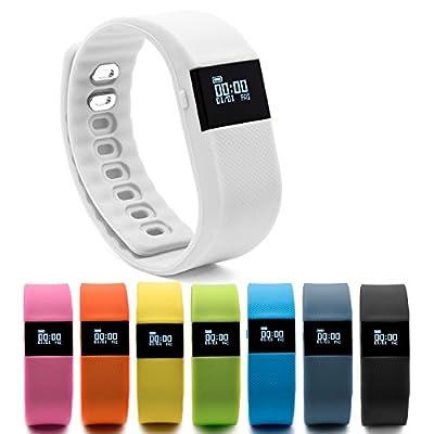 BLUEWEIGH Bluetooth 4.0 Fitness Activity Tracker, Wireless Activity Wristband - Pedometer ...