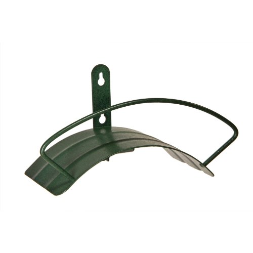 Yard Butler Deluxe Heavy Duty Wall Mount Hose Hanger Easily Holds 100' Of 5/8' Hose Solid Steel Extra Bracing And Patented Design In and DECORATIVE DESIGNS IHCWM-1 Textured Forest Green ()