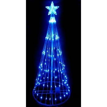 High Quality LB International 6u0027 Blue LED Light Show Cone Christmas Tree Lighted Yard  Art Decoration