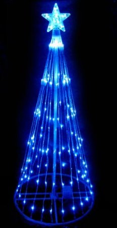 6' Blue LED Light Show Cone Christmas Tree Lighted Yard Art Decoration