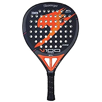 Slazenger V100 Pro - Pala de pádel, color negro/naranja / gris, 38 mm: Amazon.es: Deportes y aire libre