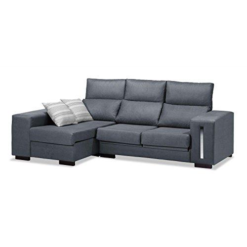 Mueble Sofá con Chaise Longue 3 plazas, Sofa gris marengo ...