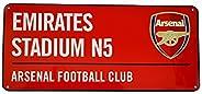 Official ARSENAL FC red Street Sign Emirates Stadium 40cm x 18cm