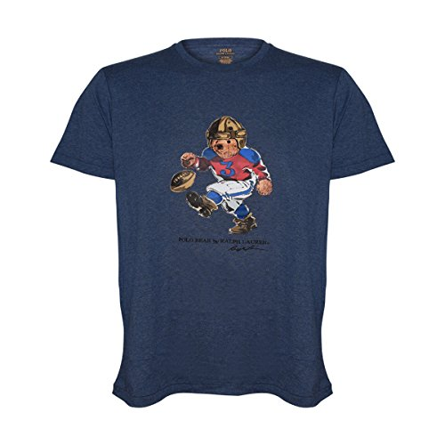 Polo+Ralph+Lauren+Mens+Limited+Polo+Bear+T-Shirt+%28Large%2C+Football%2FBlue+Heather%29