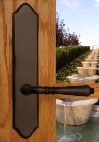 - Bellagio by FPL- Solid Brass Inactive Trim Only Lever Set for Multipoint Lock, Oil Rubbed Bronze