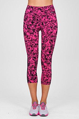 Nike Womens Legendary Jewels 3/4 Length Training Capri Tights (X-Small, Vivid Pink/Black)