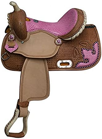 """Details about  /New Synthetic Western Youth Kids Trail Pony Horse Saddle Size 10/'/',11/"""",12/'/',13/"""""""