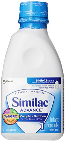 Similac Advance, Complete Nutrition, Birth to 12 Months, Ready to Feed, 1-Quart (32-Ounces)