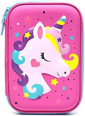 AMA-StarUK36 Estuche para lápices con diseño de unicornio, estuche creativo de goma EVA con cremallera para niños, niñas, adultos, oficina, escuela, artículos de papelería, color RH: Amazon.es: Oficina y papelería