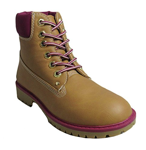 e15ff95b6960 Glaze Womens Zony-1 Tan Fuchsia Boots 6 D(M) US Shoes B01M3N7G91 Shoes US  6b0c87