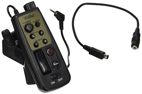 Vivitar 8 Button Remote Control fits Canon & Sony and other Camcorders with LANC or A/VR Jacks (Zoom Control)