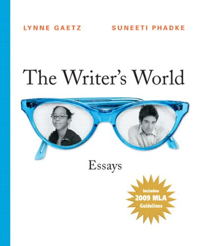 The Writer's World: Essays, 2009 MLA Update Edition (with MyWritingLab Student Access Code Card)