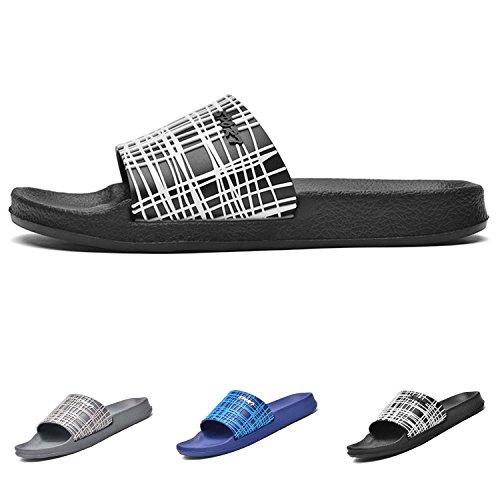 Slip Men's On Slide Shoe Beach Sandals Black PHILDA qBagCwa