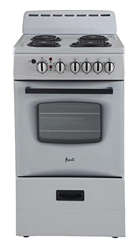 Avanti ER20P0WG - 20'' Electric Range White by Avanti