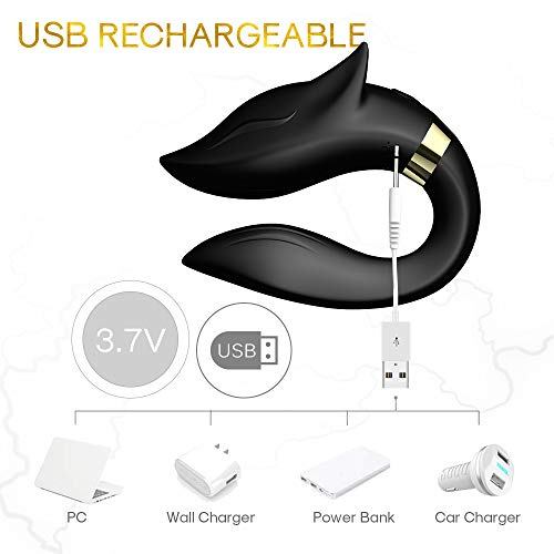 B&G Rechargeable Clitoral G-Spot Vibrator, Waterproof Couples Vibrator with 9 Powerful Vibrations, Wireless Remote Control Clitoris Toys Couples Vibrator